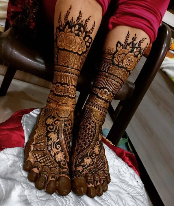 Leg Mehndi For Bride