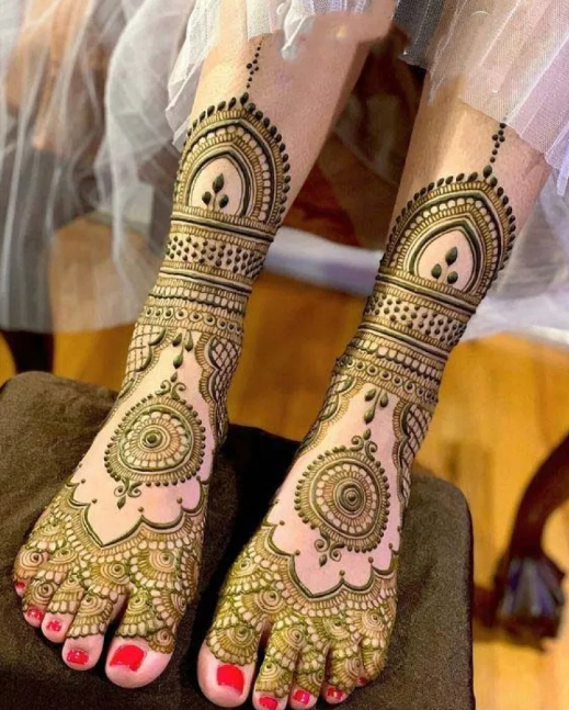 Legs Mehndi Designs Latest
