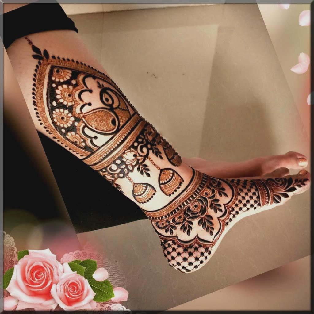 Legs New Mehndi Design