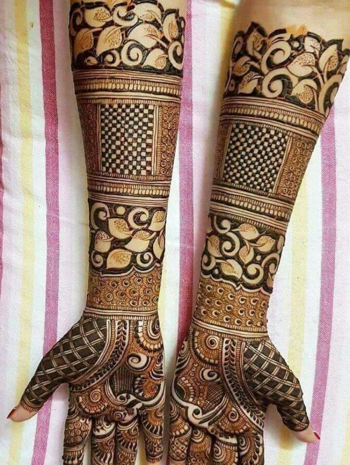 New and elegant rajasthani bridal mehndi design