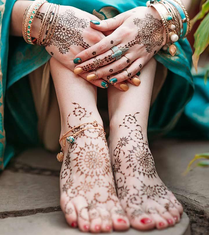 Lovely rajasthani mehndi design