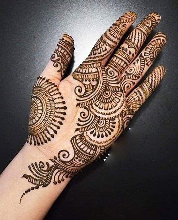 Mehndi Designs Fingers Front Side