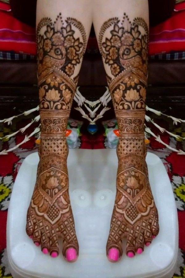 Mehndi design for bride