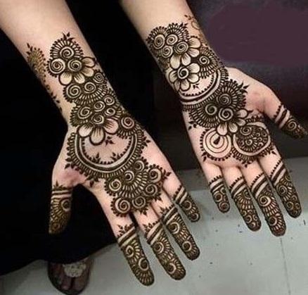 Mehndi Designs For Fingers Front Side