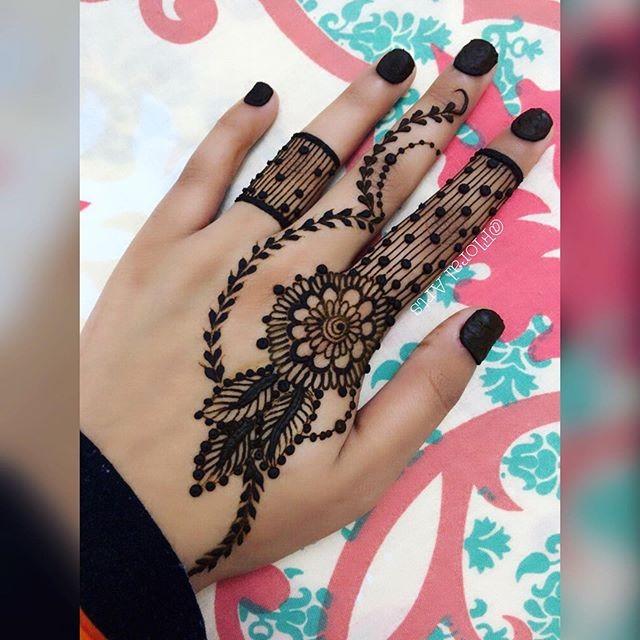 Mehndi Designs For Fingers backside