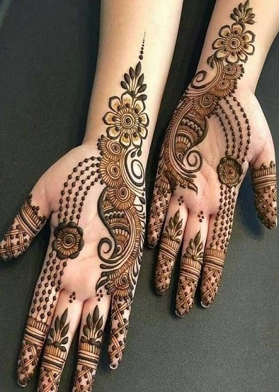 Mehndi Latest Designs For Fingers Front Side