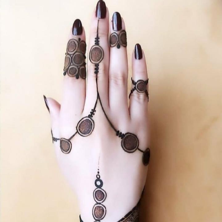 Mehndi Simple Designs For Fingers backside