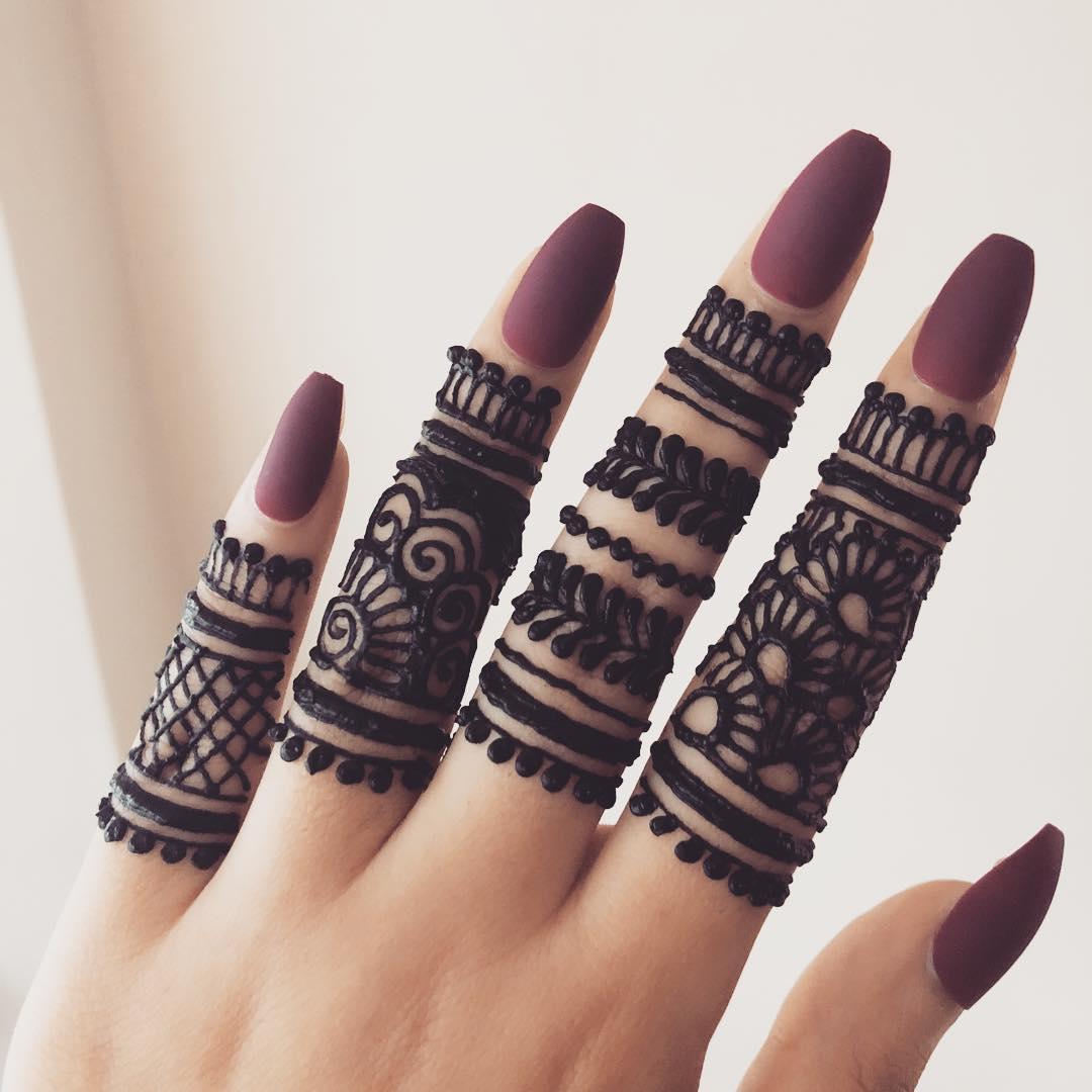 New Easy Mehndi Design For Fingers