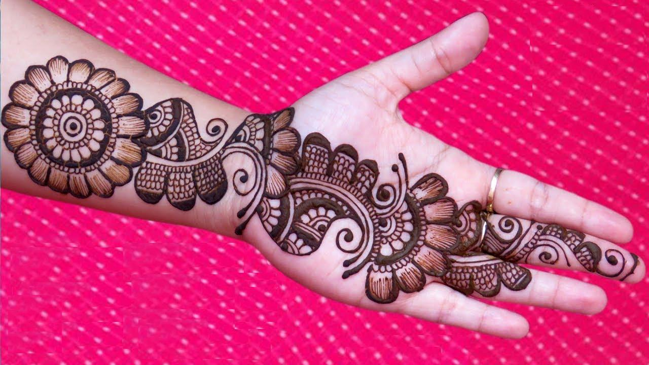 New Simple Arabic Mehndi Design