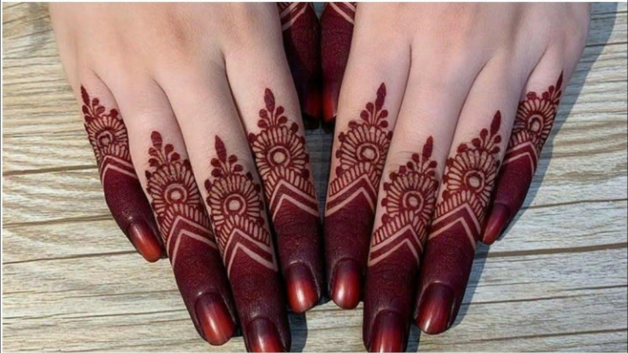 New Style Finger Mehndi Design