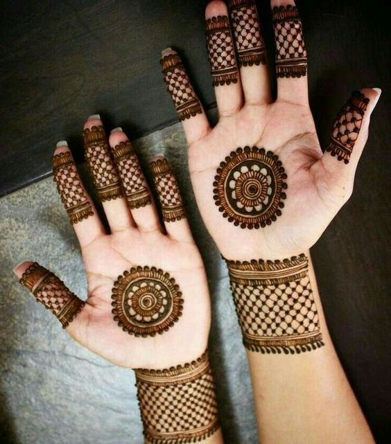 New Style Mehndi Designs For Fingers Front Side