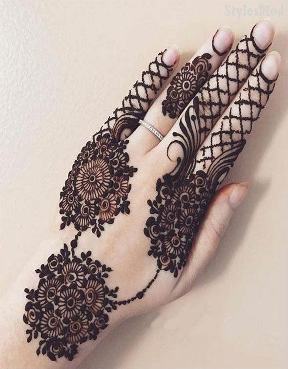 New Style Mehndi For Finger