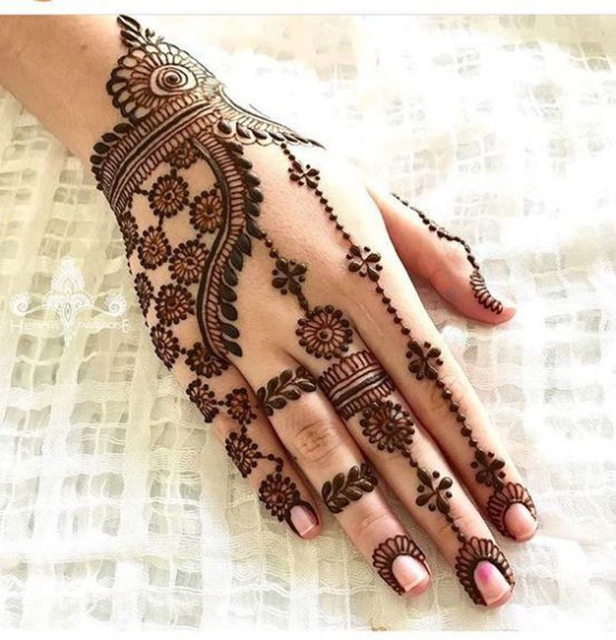 New and simple Mehndi Designs For Fingers backside