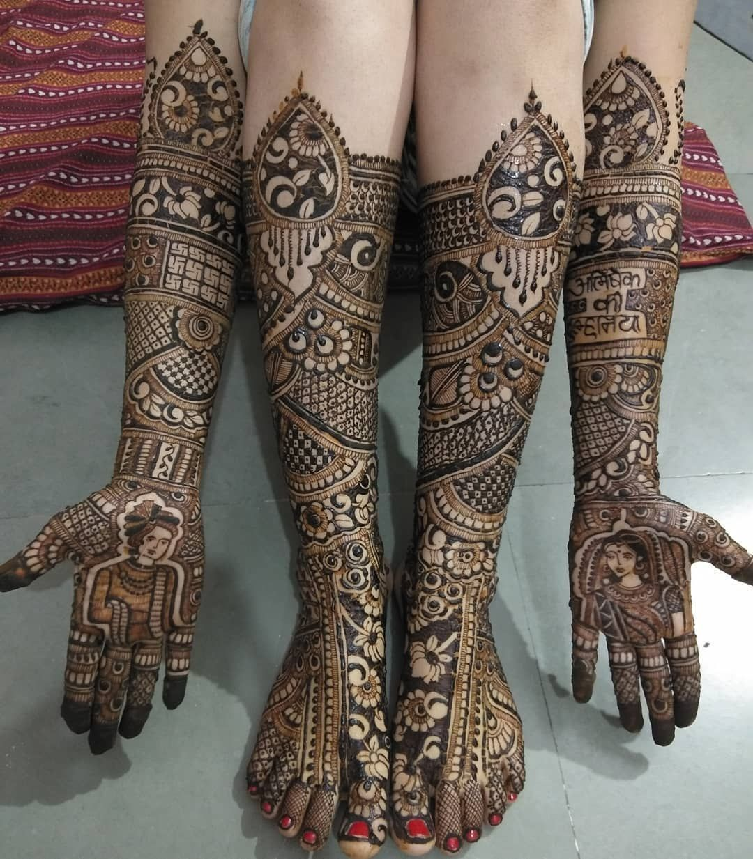 Mehndi Latest design for bride