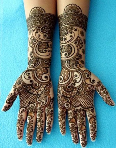 Rajwadi mehndi design