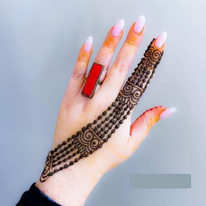 Simple 1 finger mehndi designs