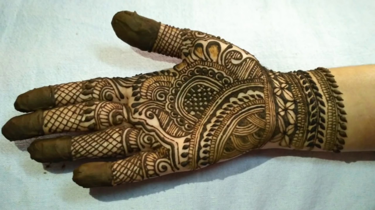Simple Bridal Mehndi Design