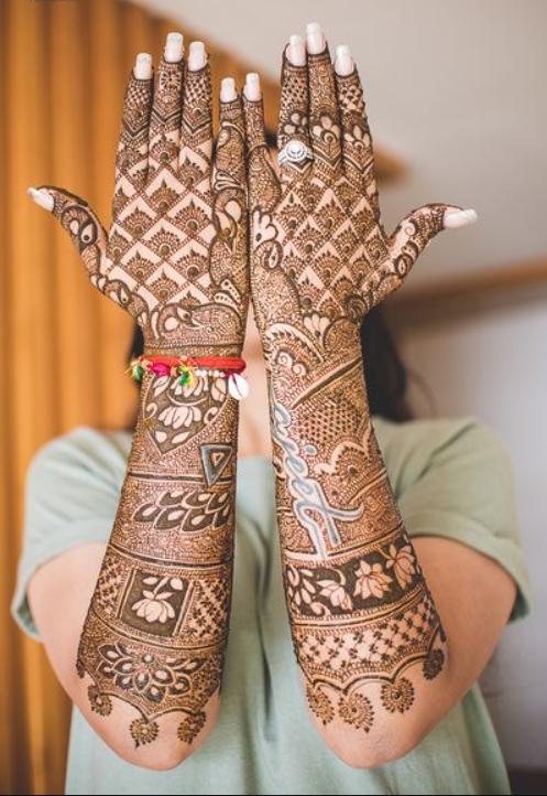 Front hand design for bridal