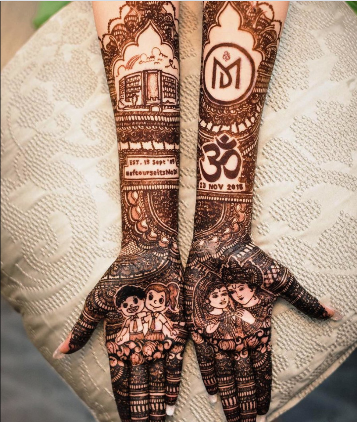 Simple Bridal Mehndi Designs