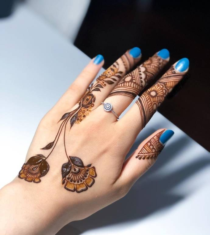Simple Design for finger backside