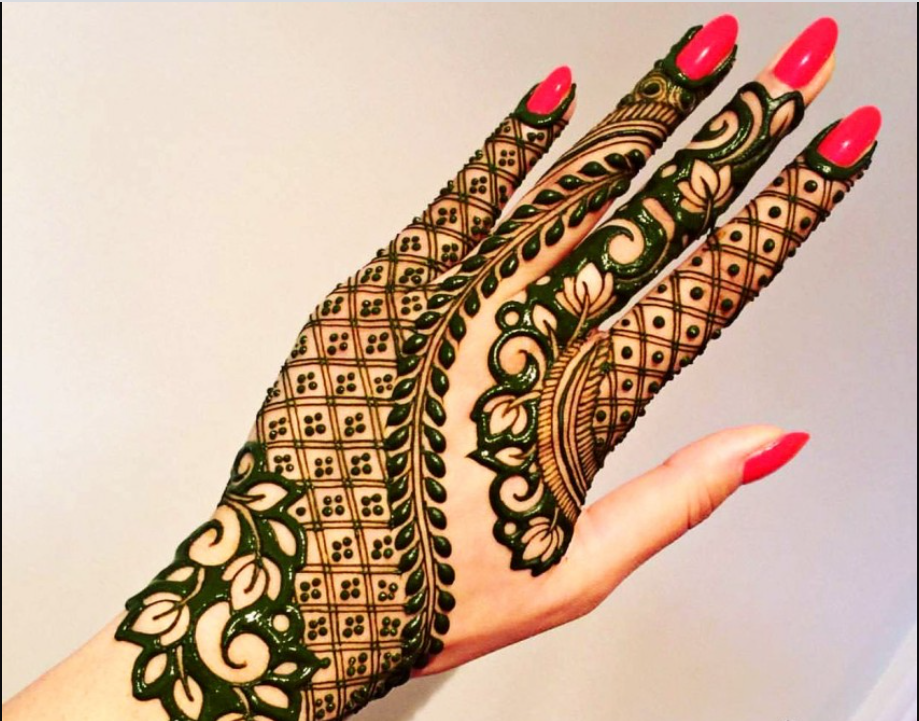 Unique Simple Pakistani Mehndi Design