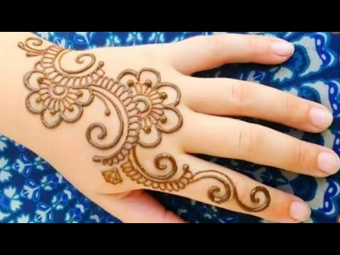 Simple and Easy Arabic Mehndi Designs For Kids