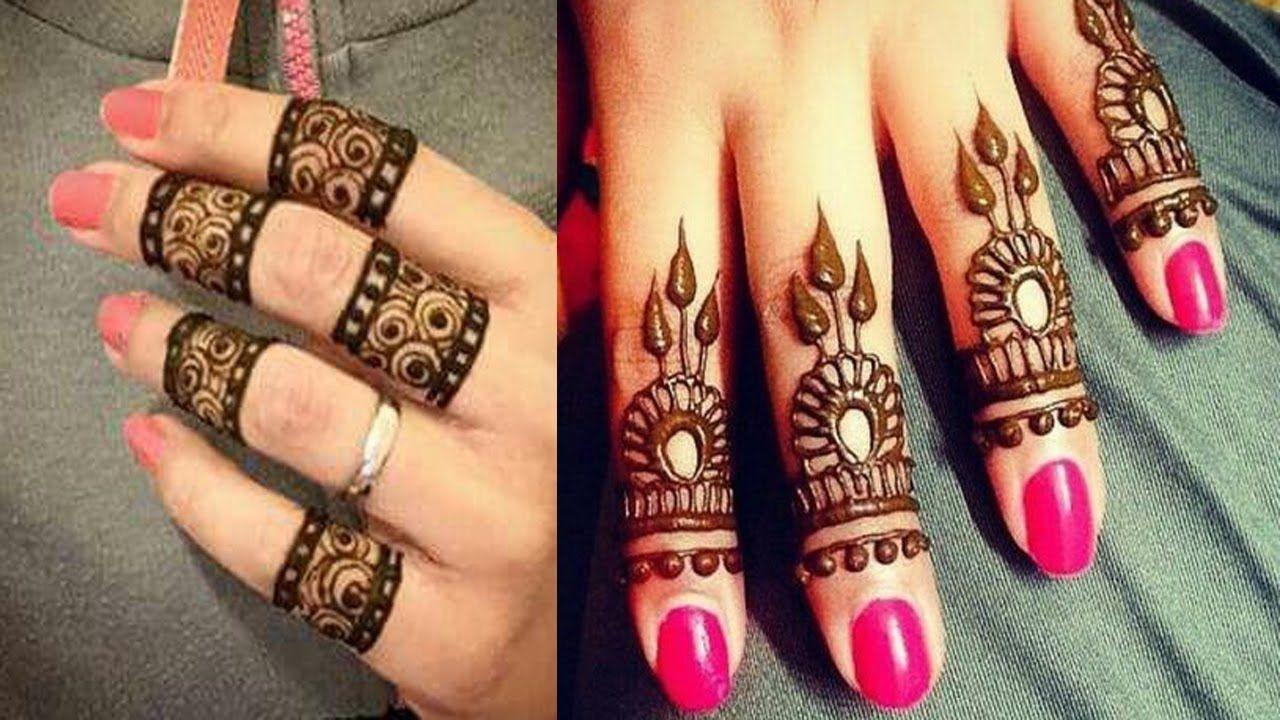 Simple finger mehndi