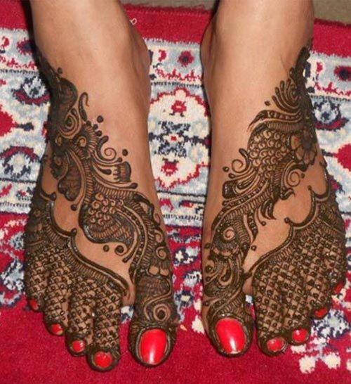 Simple mehndi Latest designs for legs
