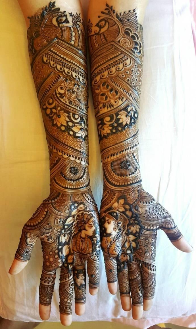 Styish and new rajasthani bridal mehndi design