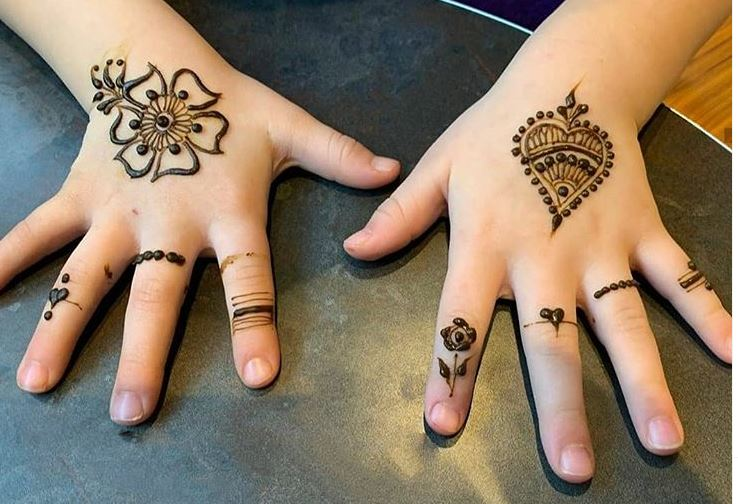 Stylish Mehndi Designs For kids Front Hand