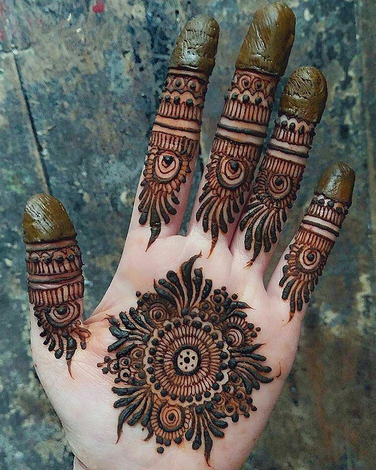 Tikki Front Hand Mehndi Design