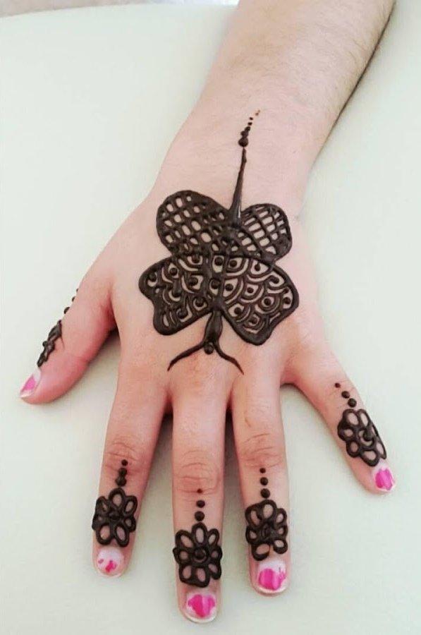 Unique Easy Latest Mehndi Design For Finger