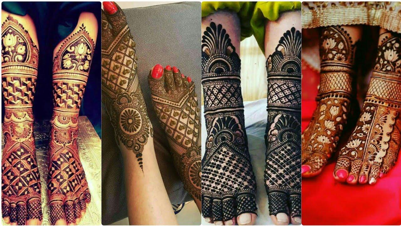 Unique Foot Mehndi Designs
