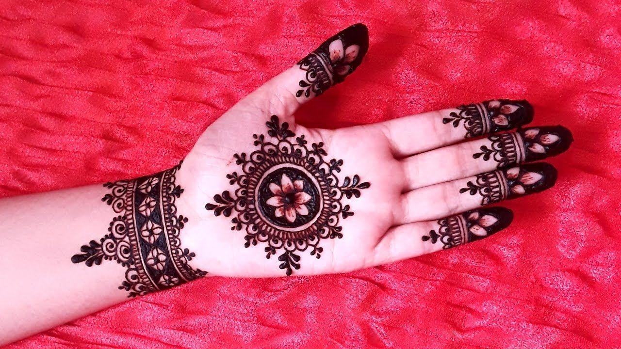Unique Front Hand Mehndi Design Tikki