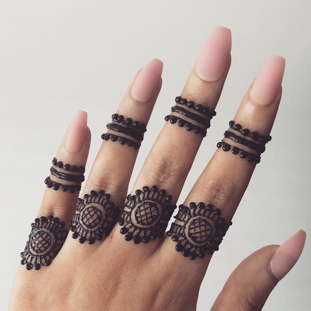 Unique Indian Mehndi Designs For finger