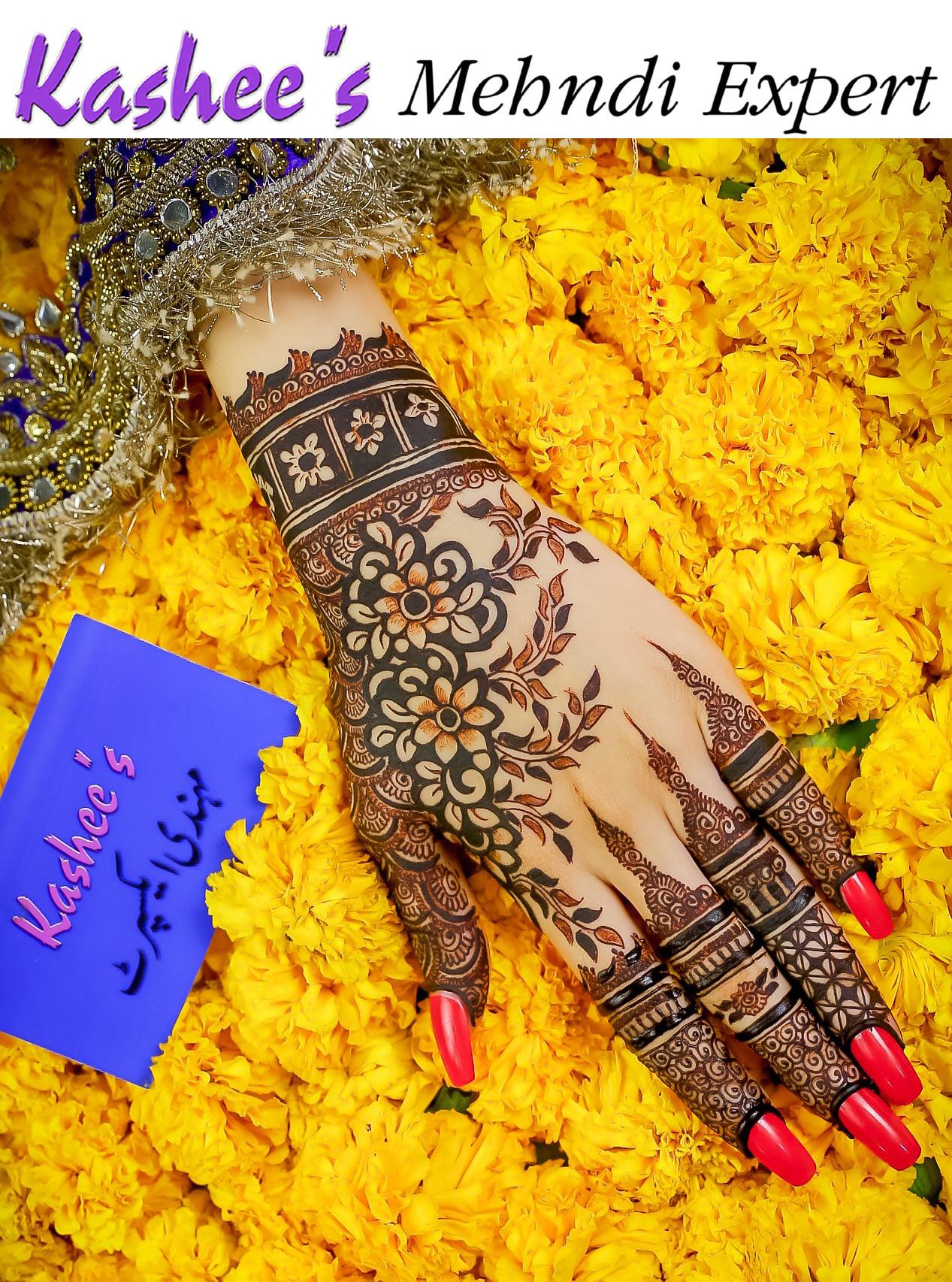 beautiful kashees mehndi design
