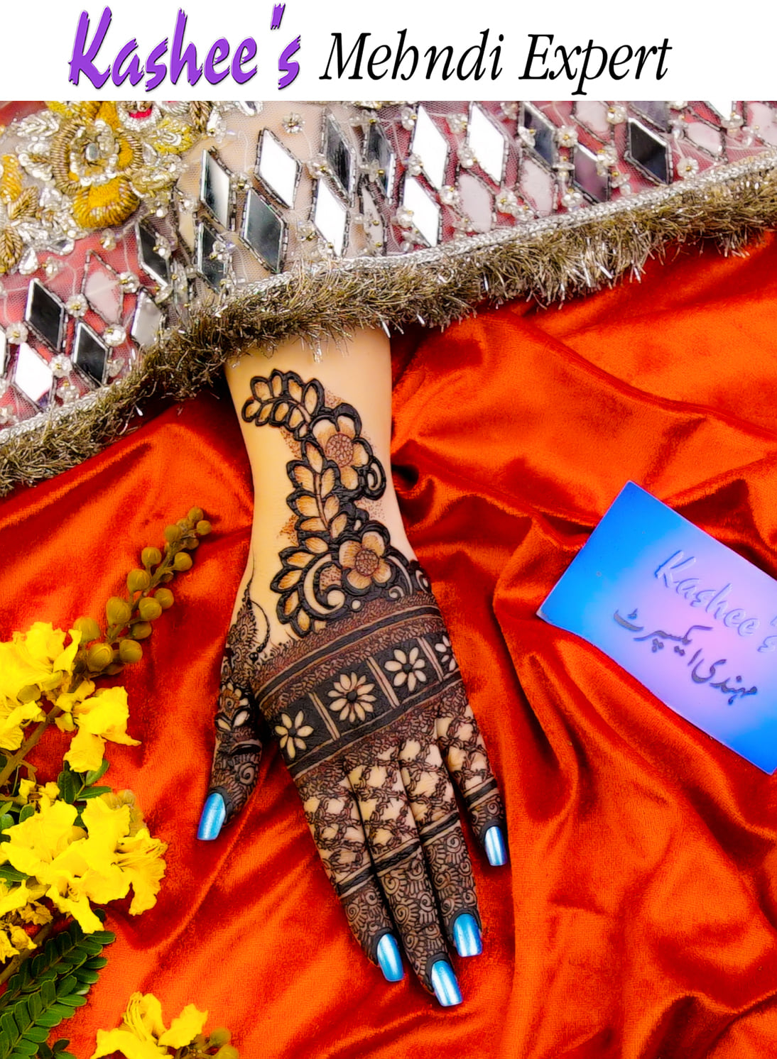 bridal hand mehndi design