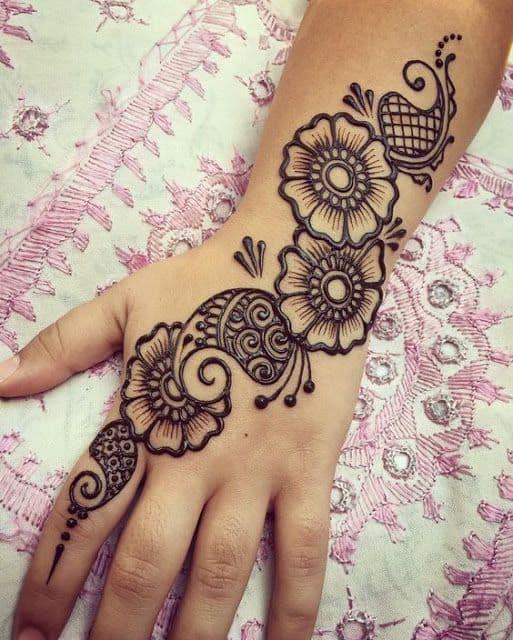 easy arabic design for diwali