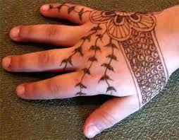fancy back hand mehndi design for kids
