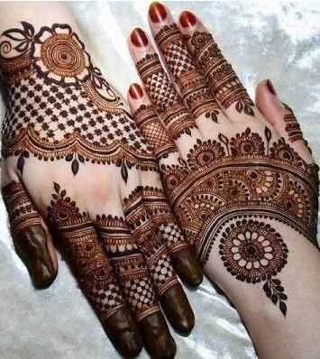 most beautiful back hand design bridal