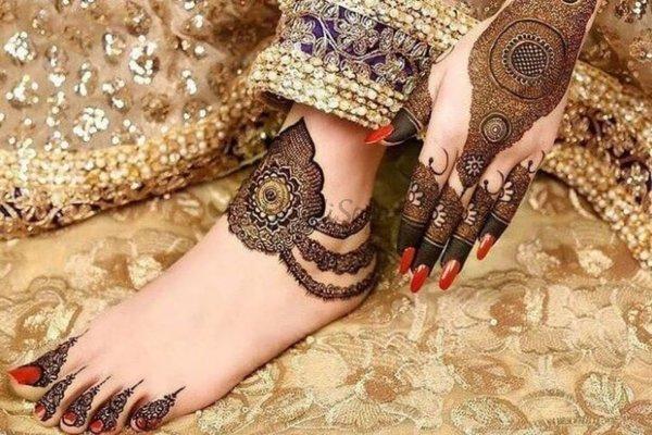 most love mehndi design of bridal