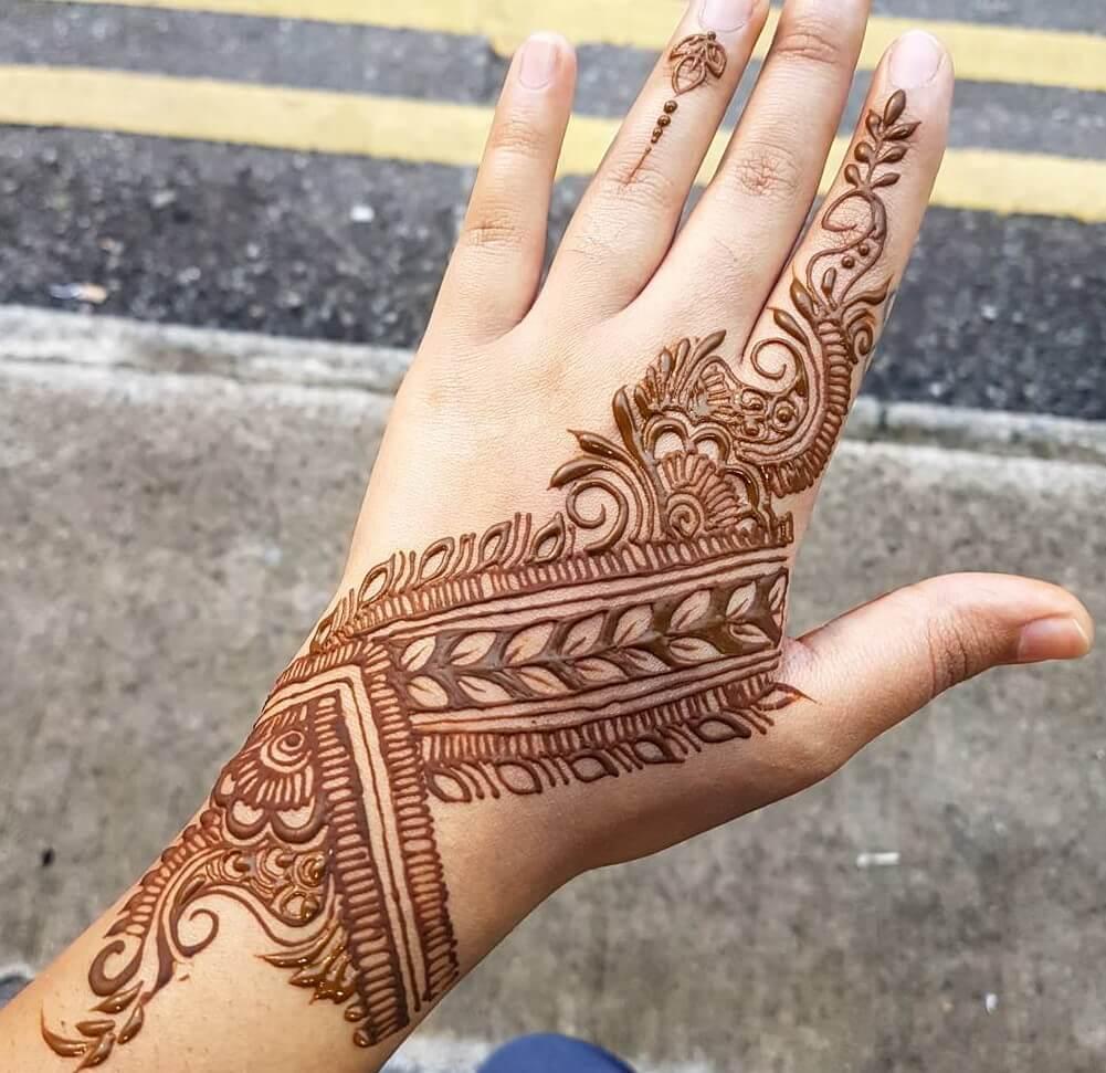 most nice back hand design of bridal