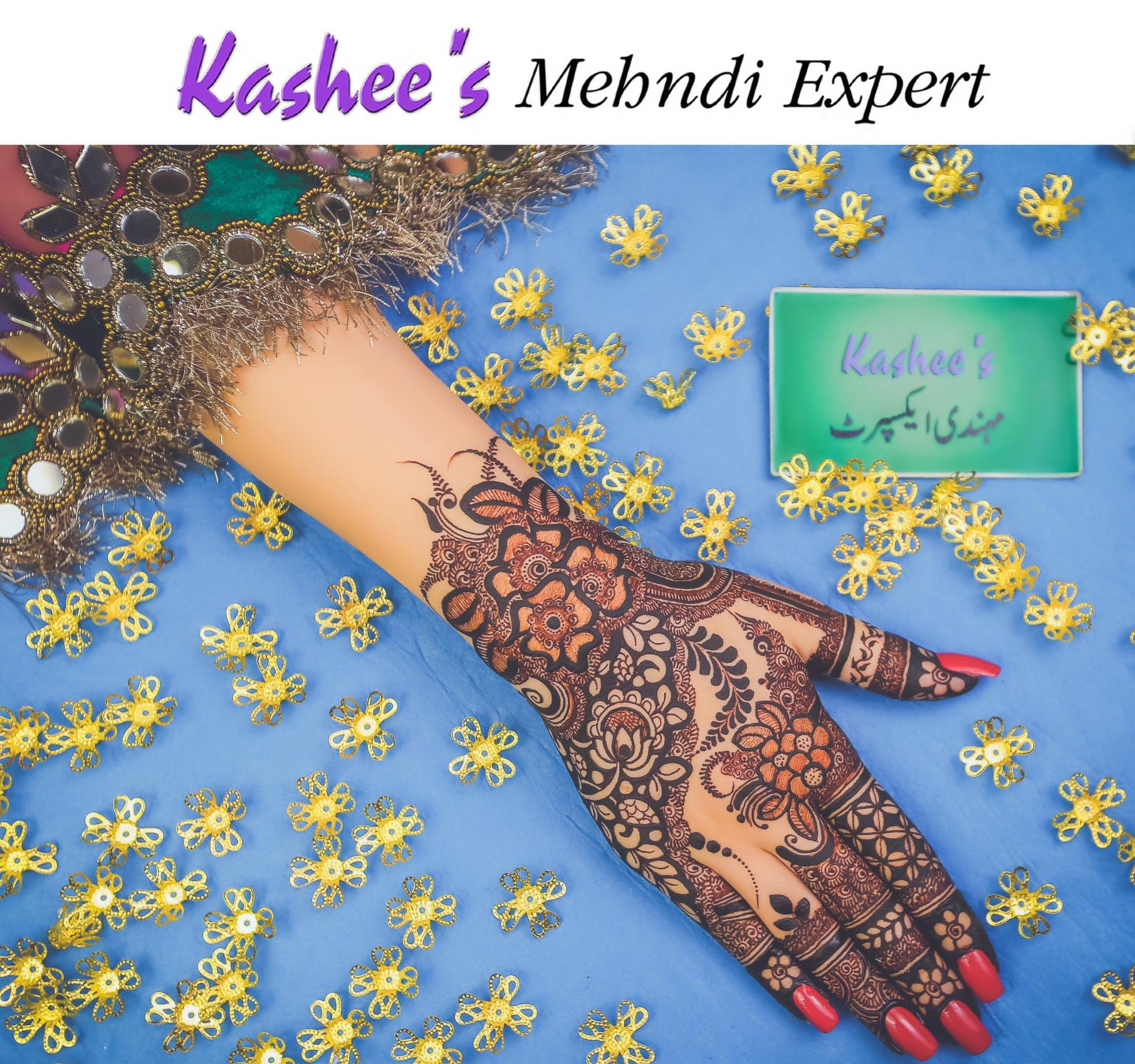young ladies kashees mehndi design