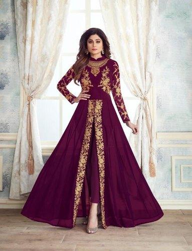 A line Churidar Dress For Girl