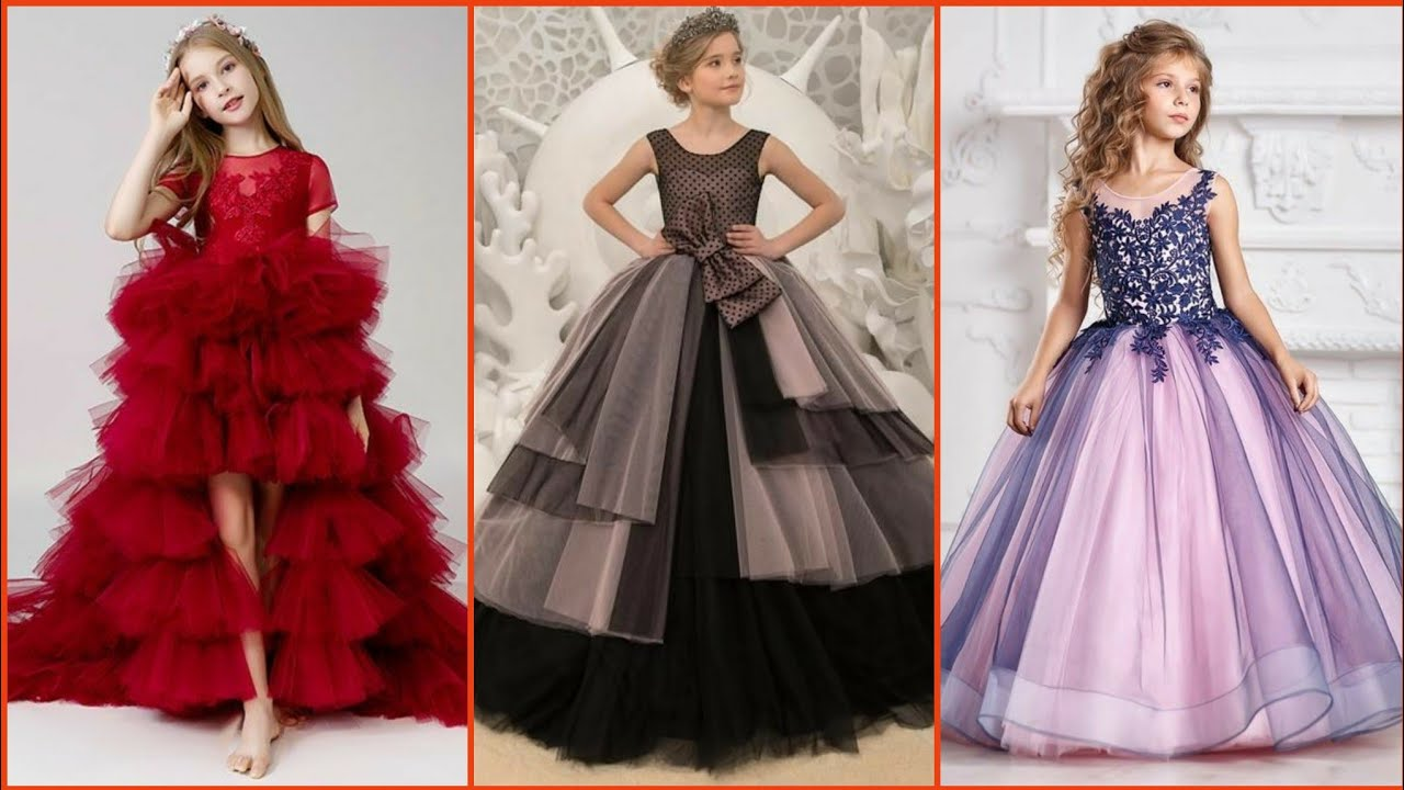 Beautiful Stylish Gown Design For Kids