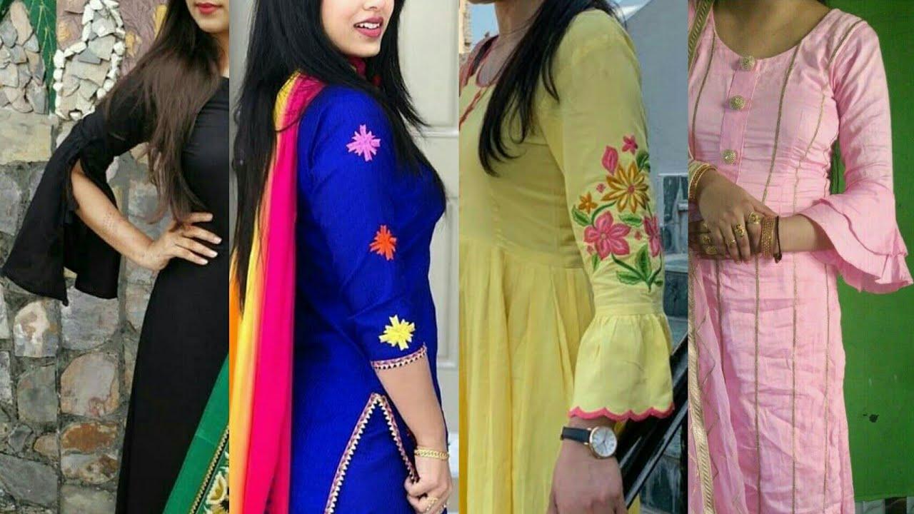Unique and trendy Cotton Salwar Kameez Sleeve Designs