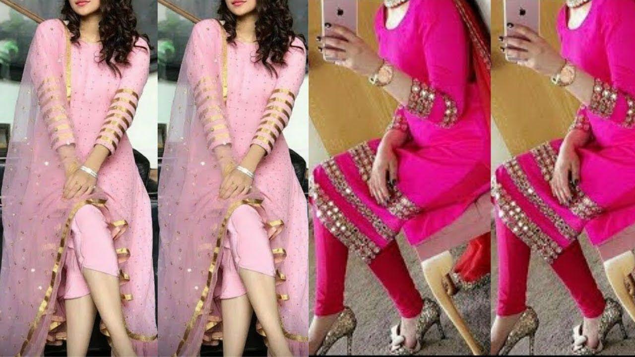Simple Kameez Design With Laces