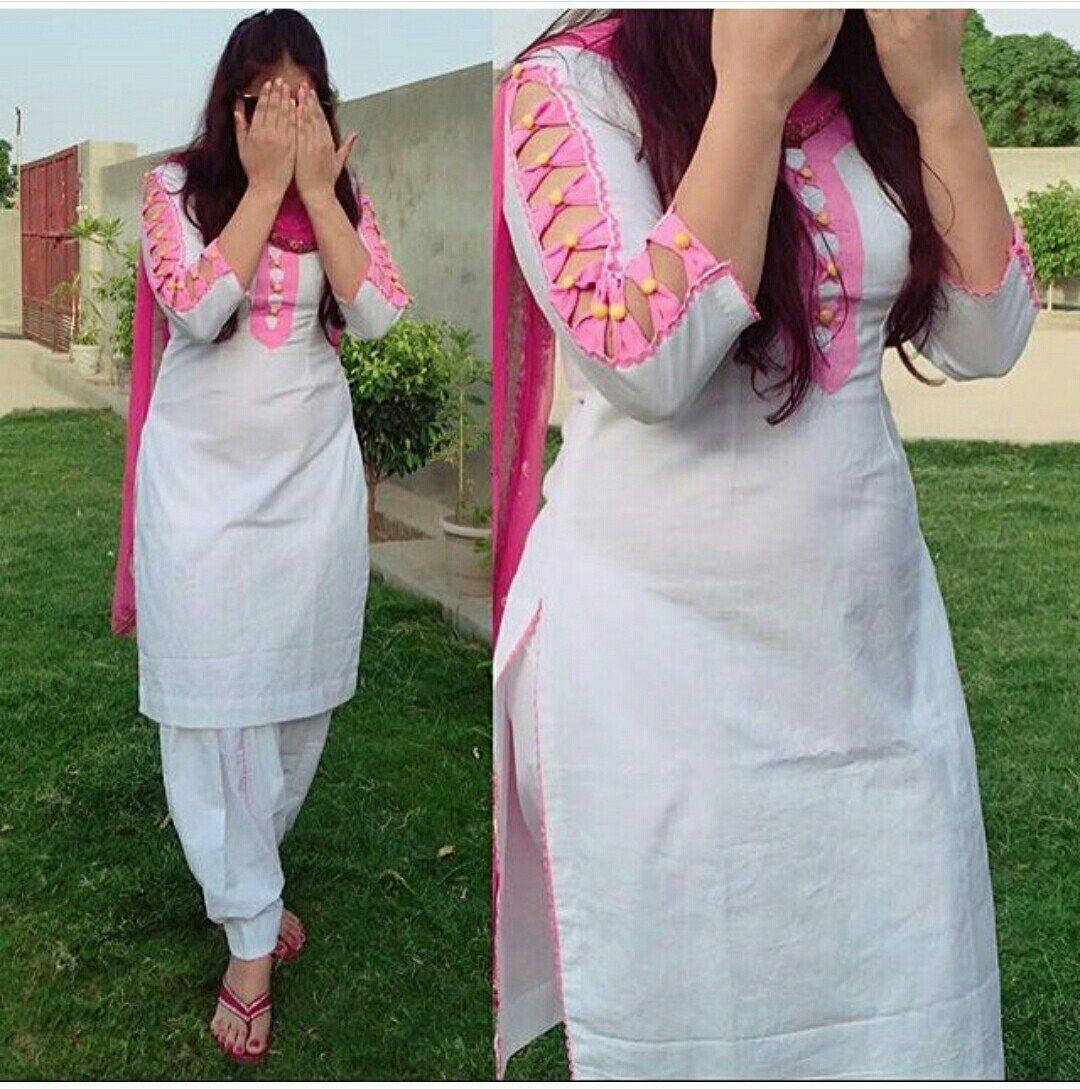 Latest Cotton Salwar Kameez Sleeve Designs