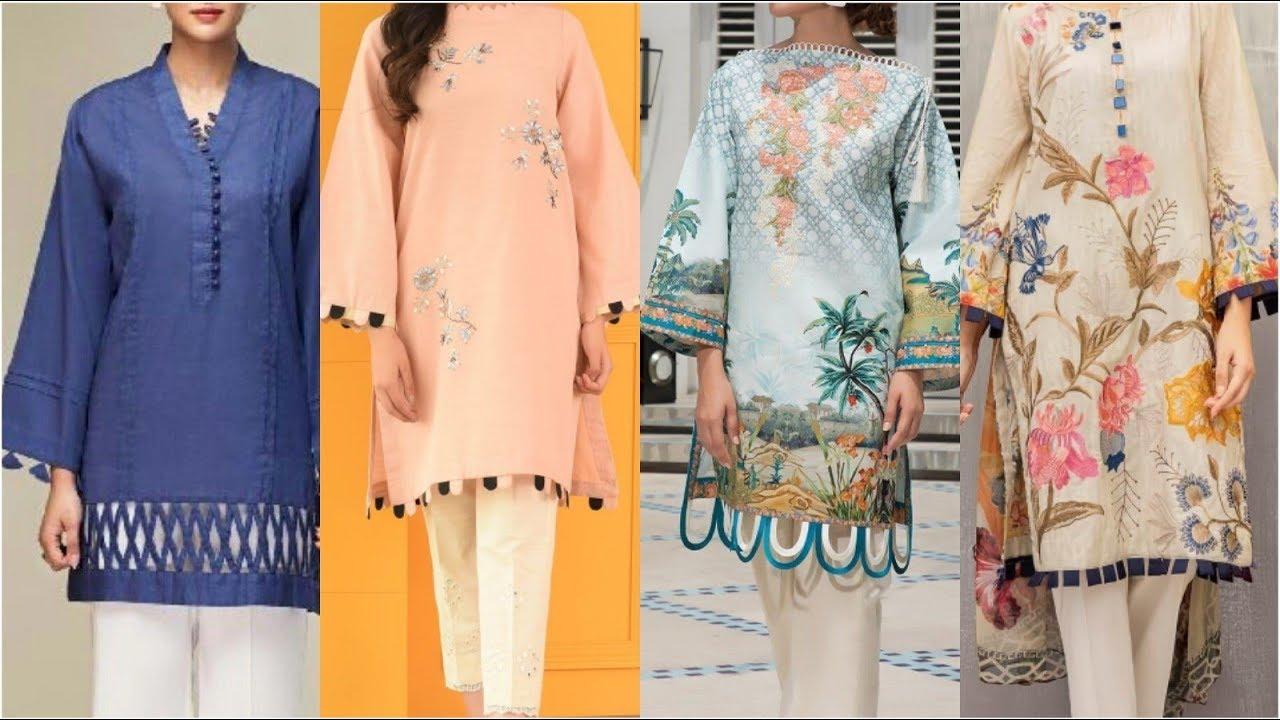 Latest Fashion Daman For Girls With Salwar Kameez