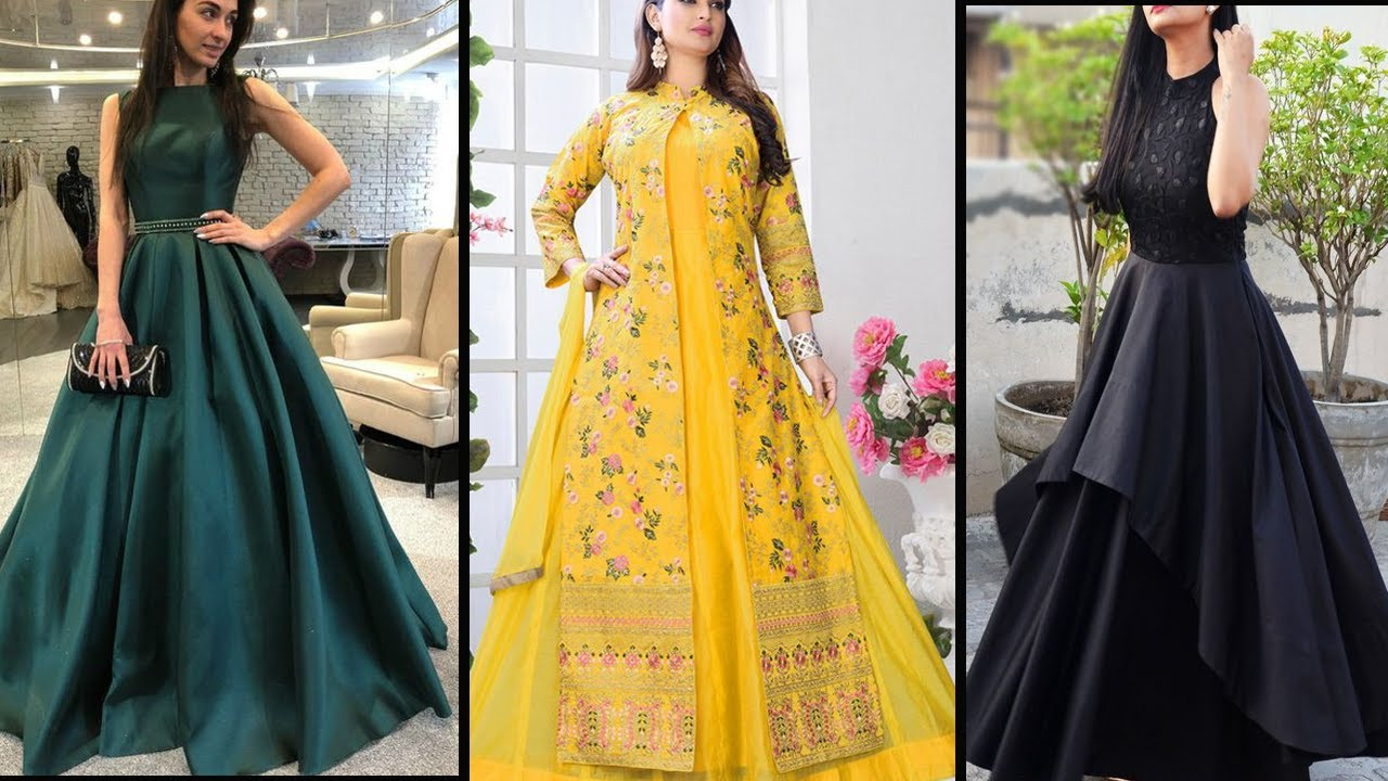 Latest Simple Gown Design 2021